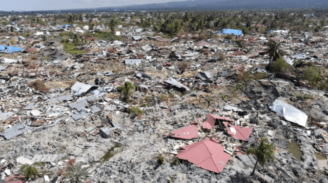 Devastation from soil liquefaction at Petobo in Palu following the 28 September earthquake and tsunami