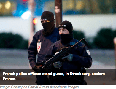 French Police Stand Guard